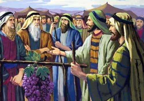 Josue, Caleb y los 12 espias