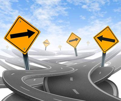 Lider tomando decision y direccion