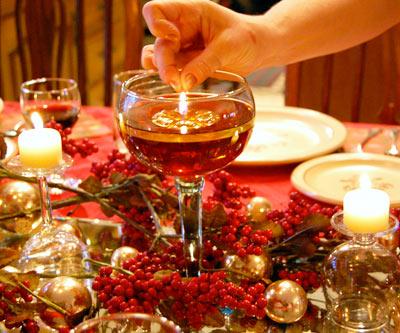 celebracion de la navidad, mesa navide�a