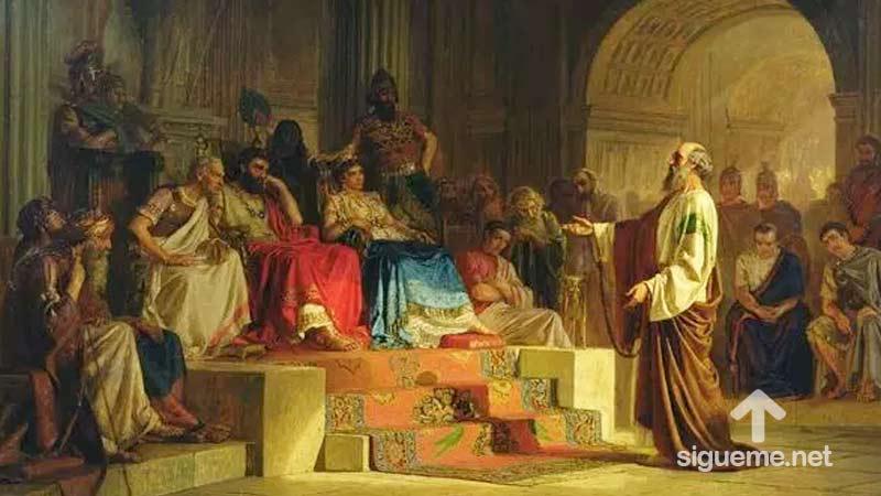Imagen del personaje biblico AGRIPA, del Nuevo Testamento