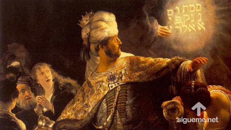 BELSASAR, personaje biblico del Antiguo testamento