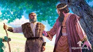 Imagen del personaje biblico ACAB, Rey de Israel, del Antiguo Testamento