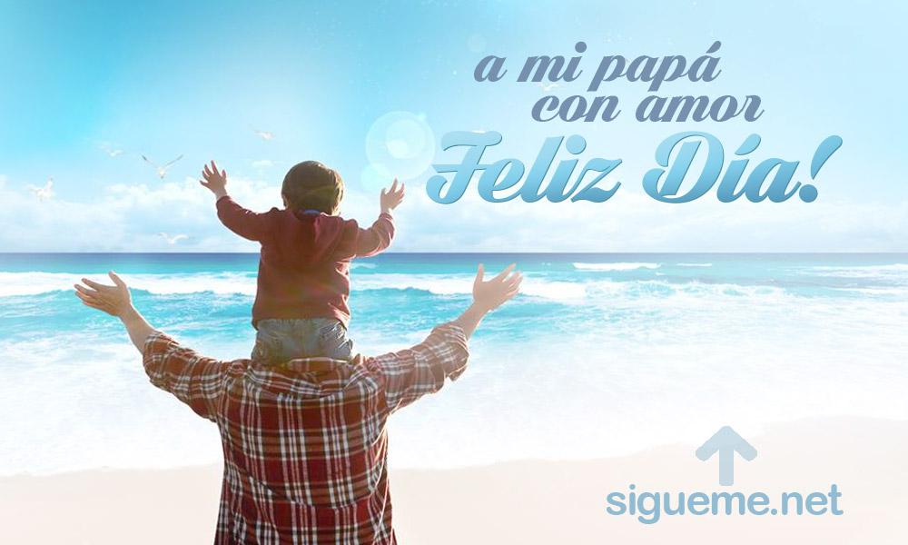 A papa con amor es una imagen para el dia del padre