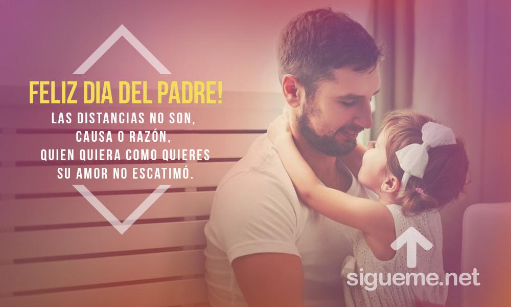 Imagen dia del padre, con la frase quien quiera como ames