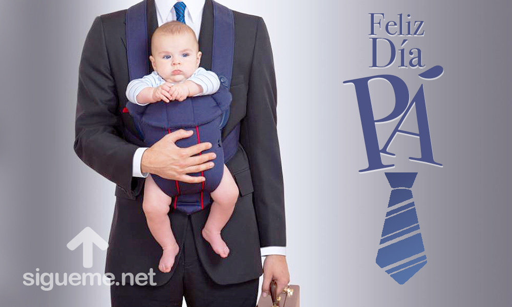 Imagen dia del Padre, con la frase feliz dia Pa