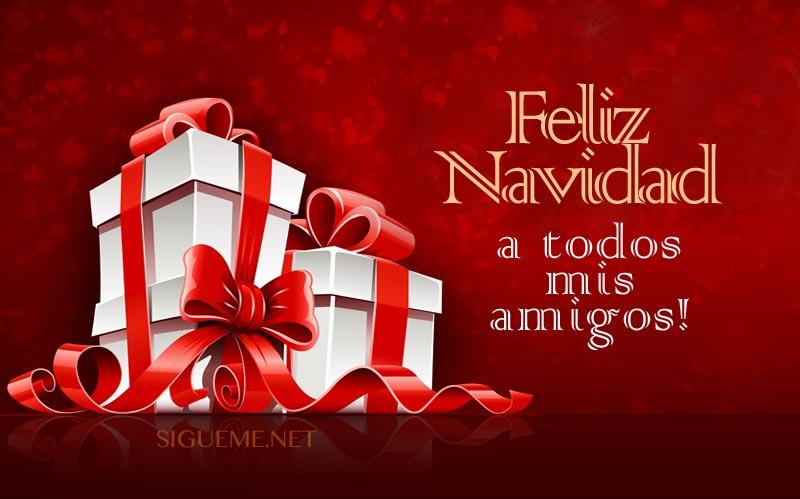 IMagen con la frase Feliz Navidad para todos mis Amigos