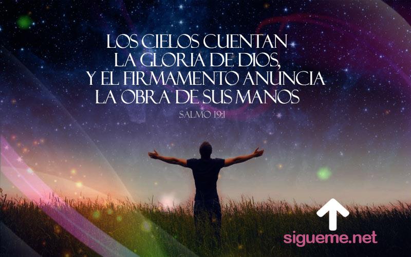 Imagen del Salmo 19:1 Los cielos cuentan la Gloria de Dios