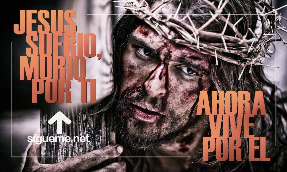 Jesus en la cruz, su pasion en Semana santa