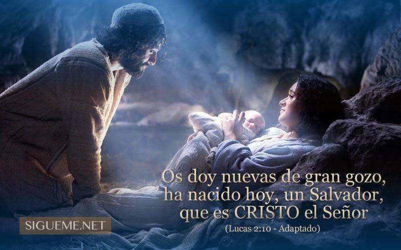 El Niño Jesus en el Pesebre junto a la Virgen Maria y Jose
