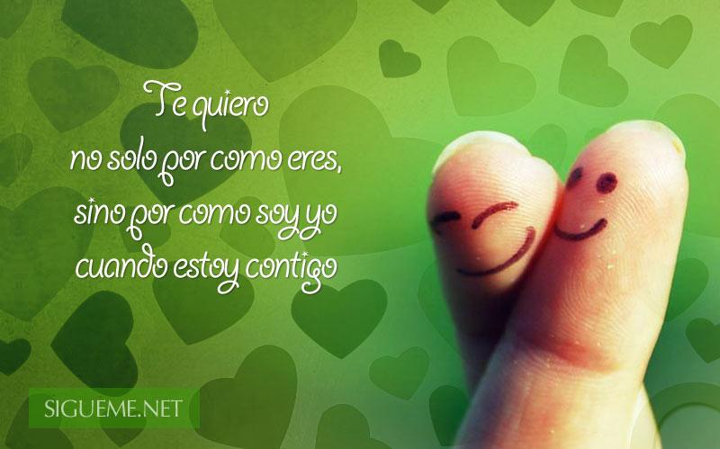 pareja de dedos sonriendo