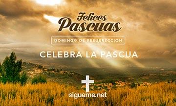 Imagen de saludo de Felices Pascuas en Domingo de Resurreccion