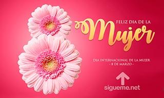 imagen con la frase 8 de Marzo Dia Internacional de la Mujer