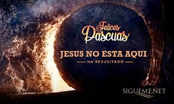 Imagen de saludo Felices Pascuas, la Tumba esta Vacia, Jesus ha resucitado
