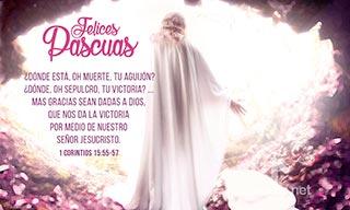 Imagen de Felices Pascuas, Jesus Resucitado sale de la tumba