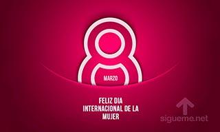 Imagen con la frase Feliz dia internacional de la mujer