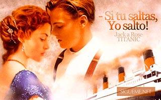 Imagen de Jack y Rose de la Pelicula Titanic