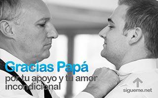 Imagenes del dia del padre con la frase Gracias Papa