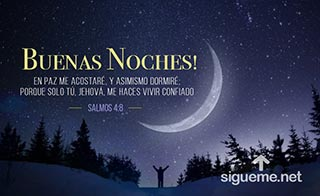 Imagen de Buenas Noches! Duerme Confiado, Dios te cuida
