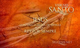 Imagen de la corona de espinas de Jesus en Viernes Santo