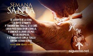 Jesus lava los pies de sus discipulos en la ultima cena