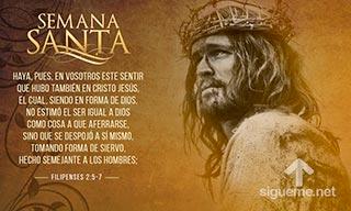 El sentir de Cristo Jesus que se hizo siervo siendo Rey