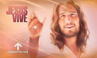 Imagen con la Frase Jesus Vive, semana Santa