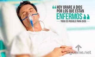 Imagen cristiana con la frase No te Olvides orar por los enfermos