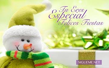 Muñeco de nieve de Navidad y regalos