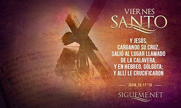 Jesus cargando su cruz en Viernes Santo