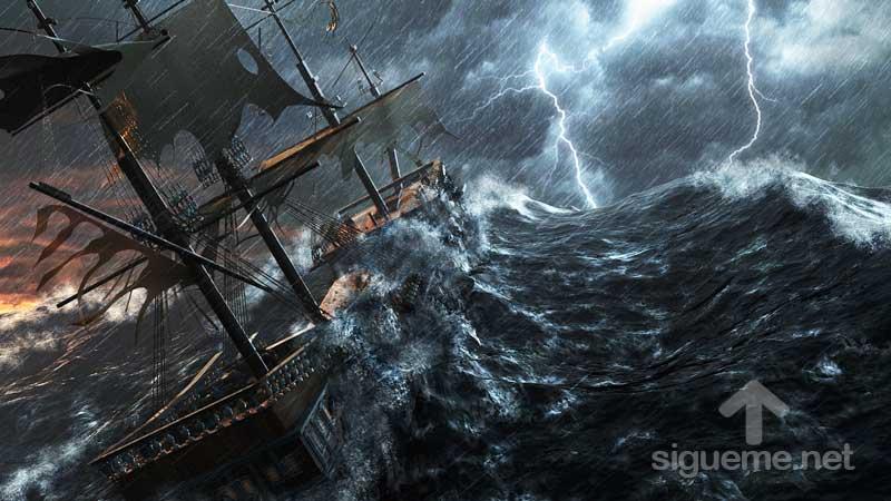 Tormenta En El Mar Barco