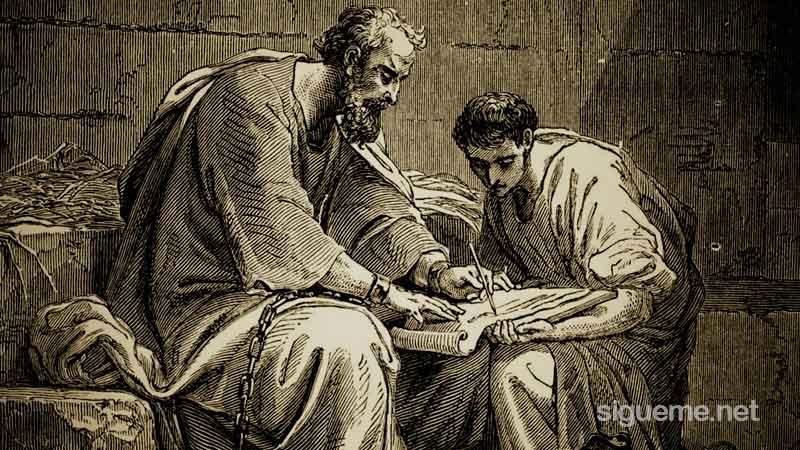 El Apostol Pablo junto a su hijo amado en la fe Timoteo