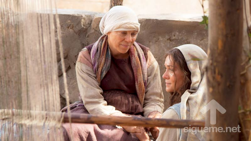 Elizabeth y la Virgen Maria embarazadas
