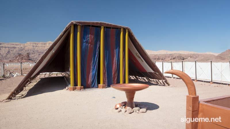 Entrada al Tabernaculo de Moises que Dios pidio en el desierto