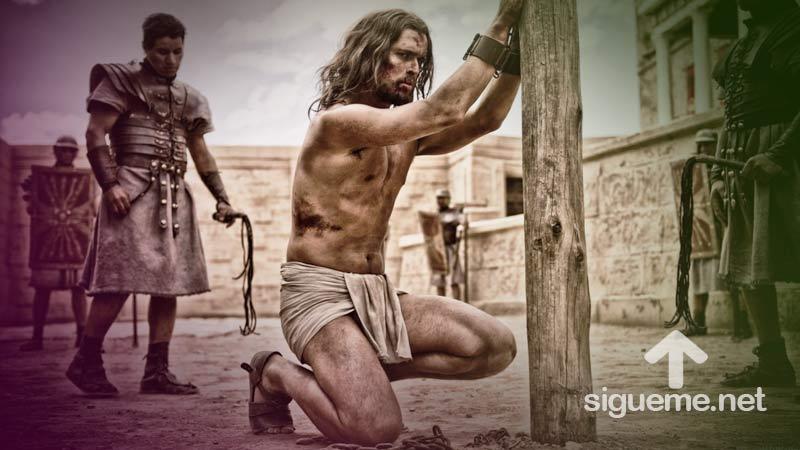 Jesus es azotado por Soldados romanos