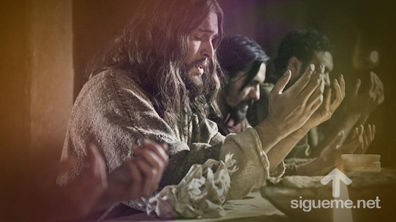 Jesus ora por sus discipulos
