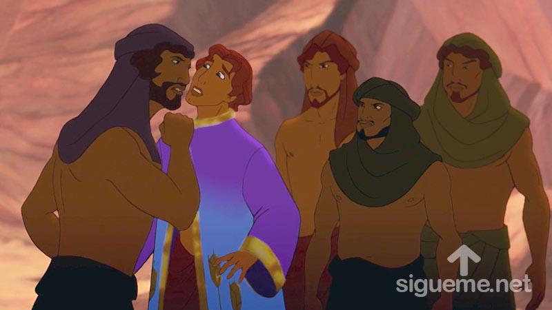 Ilustracion de la historia biblica Jose es apresado por sus hermanos