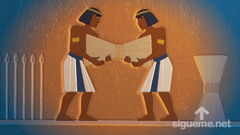 Ilustracion de la historia biblica  Jose interpreta los sueños del Faraón