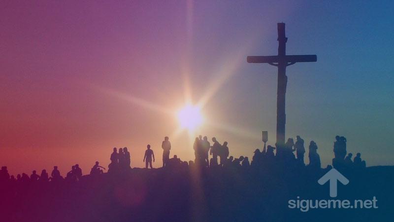 La cruz de Jesus en semana santa