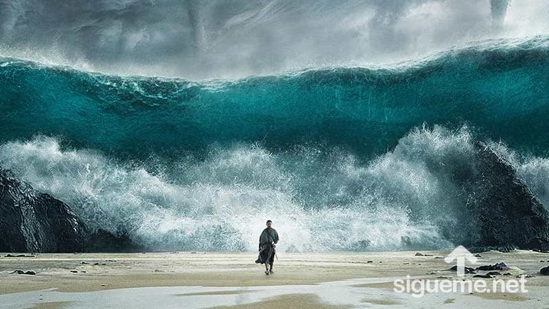 Moises divide el Mar Rojo en el exodo