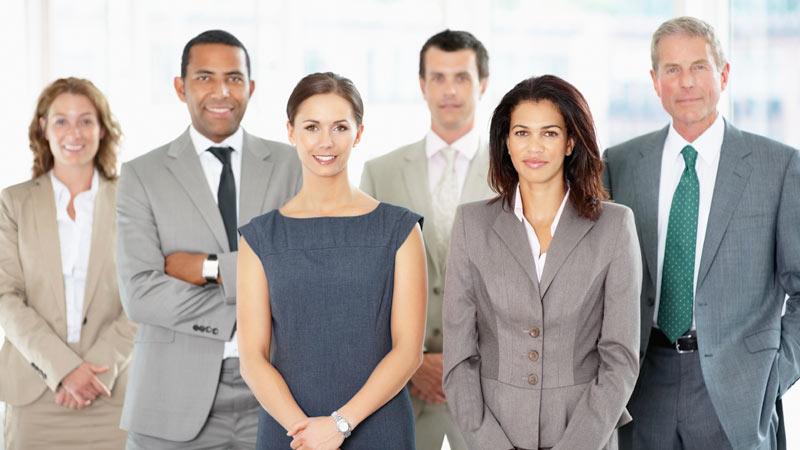 Integrantes del equipo de trabajo de una empresa