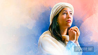 Ana esposa de Elcana orando a Dios