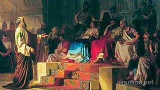 El Apostol Pablo persuadiendo al rey Agripa a ser cristiano