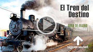 Tren antiguo echando humo por la estacion