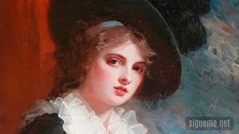 Pintura de George Rommey, La Dama Divina