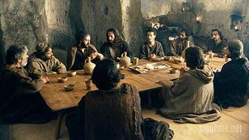 Jesus celebra la Pascua con sus discipulos