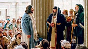 Jesus confrontando con el legalismo de los Fariseos