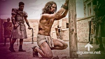 Jesus fue azotado por nuestros pecados