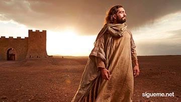 Jesus Mirando hacia el horizonte