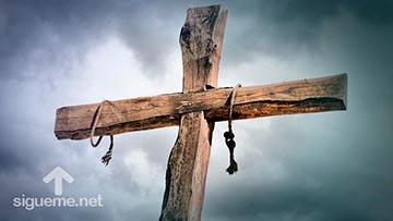 Jesús murió en una cruz