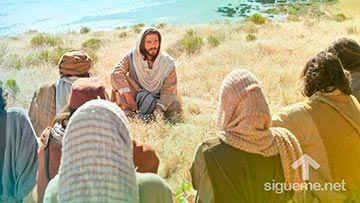 Jesus enseña a sus discipulos a orar el Padre nuestro